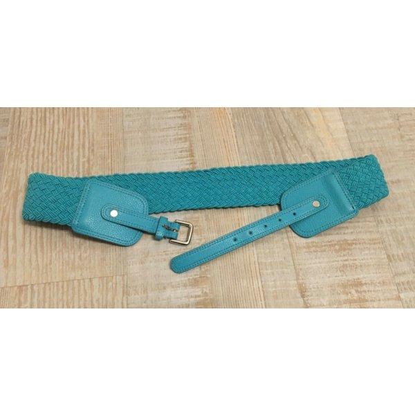 H&M Braided Belt cadet blue mixture fibre