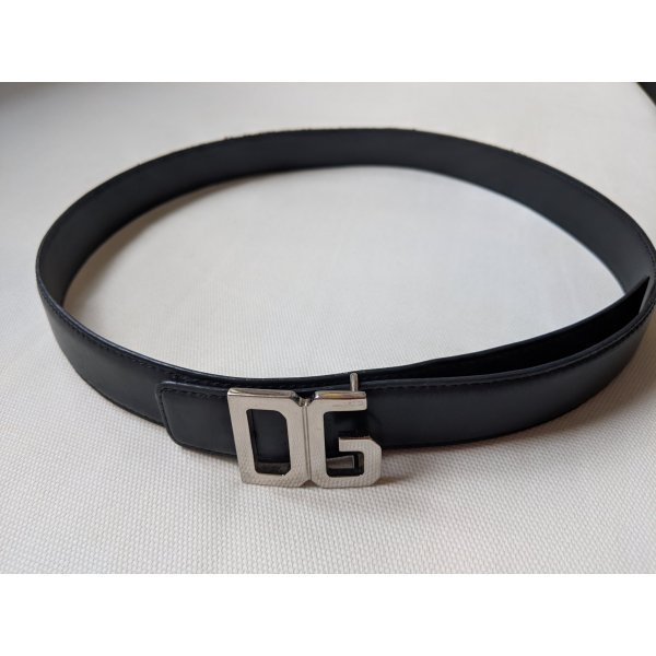 Dolce & Gabbana Belt black-silver-colored
