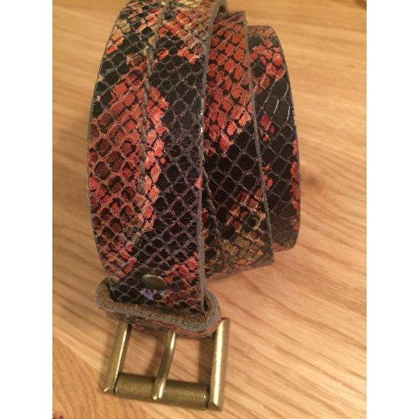 Zara Faux Leather Belt multicolored imitation leather
