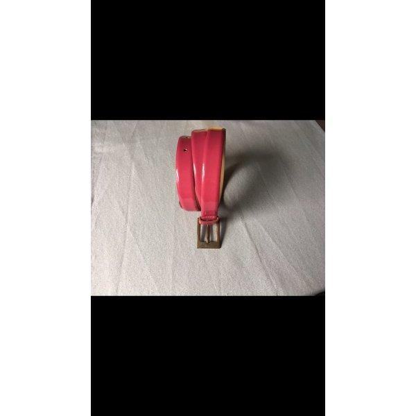 Gürtel in pink aus echtem Leder Lackleder Länge 80cm