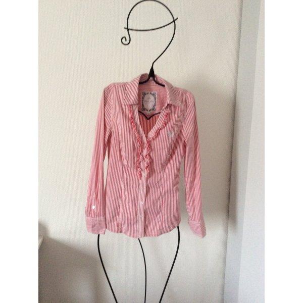 Guess Bluse gestreift wie neu! Rot/Rosa-Weiß