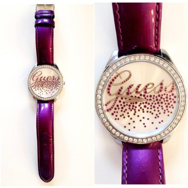 Guess Reloj color plata-lila