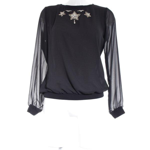 Guess Manica lunga nero-argento modello stella stile casual