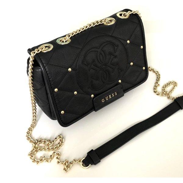 Guess Luxe Gekruiste tas zwart-goud Leer