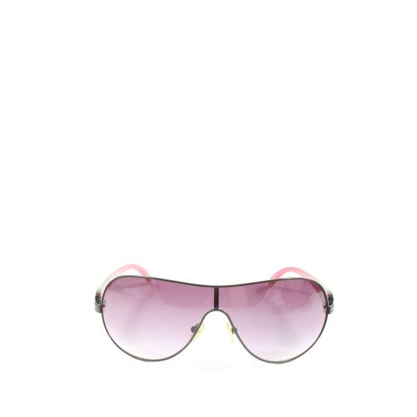 Guess ovale Sonnenbrille schwarz-pink Farbverlauf Casual-Look