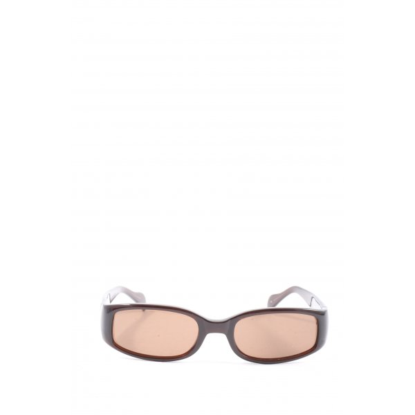 Guess ovale Sonnenbrille braun Casual-Look
