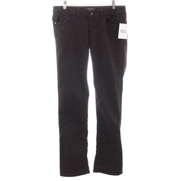 Guess Straight-Leg Jeans dunkelbraun Casual-Look
