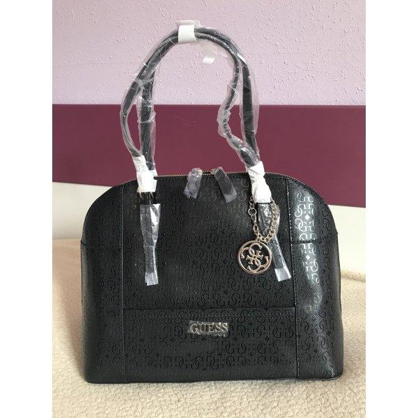 GUESS Tasche Bauletto Logotasche Schultertasche Delaney GE453507 schwarz NEU