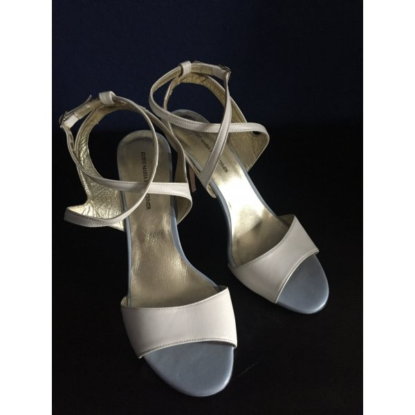 Guido Maria Kretschmer Stilettos Sandalen High Heels 40 Neu Weiß Hellblau