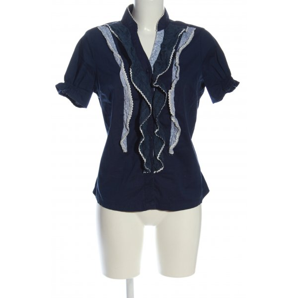 Guru Hemd-Bluse blau-weiß Mustermix Elegant