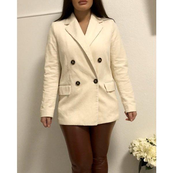 H&M Blazer Creme weiß