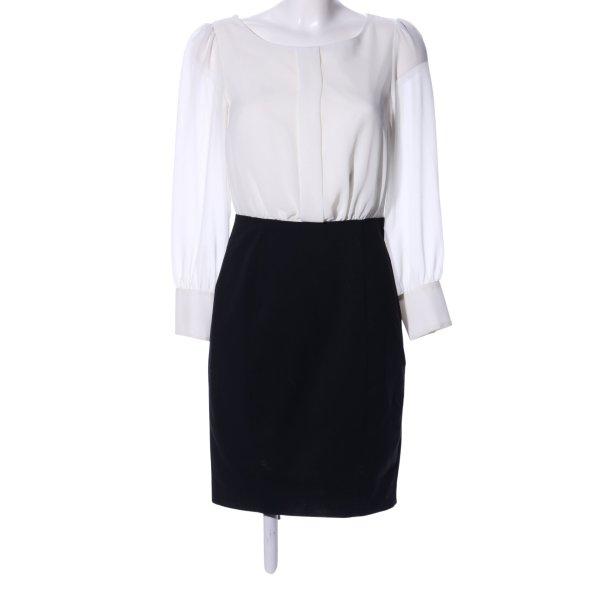 H&M Bleistiftkleid weiß-schwarz Business-Look