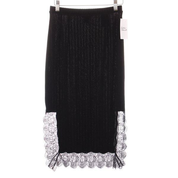 H&M Bleistiftrock schwarz Streifenmuster Elegant