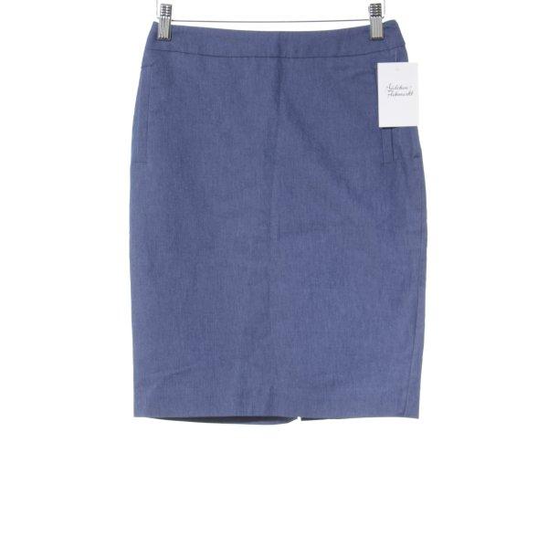 H&M Bleistiftrock stahlblau-blau Business-Look