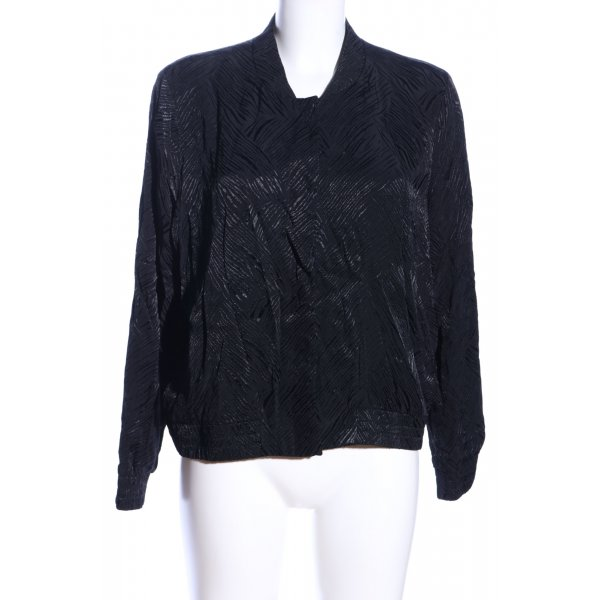 H&M Blouson schwarz Allover-Druck Business-Look