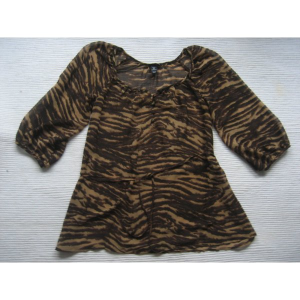 H&M bluse tunika tiger sommer gr. 34 xs top zustand