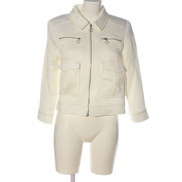 H&M Blusenjacke weiß Casual-Look
