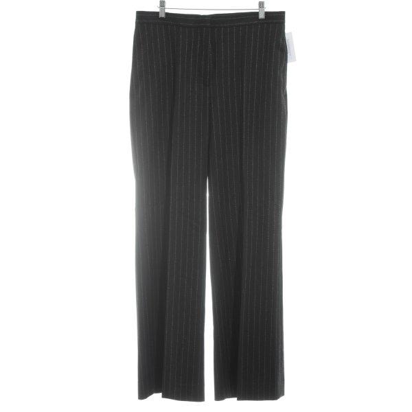 H&M Pantalon à pinces noir-blanc motif rayé style d'affaires