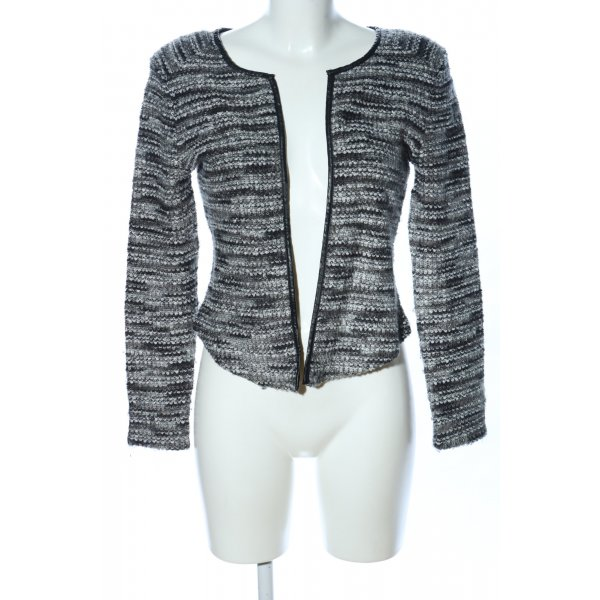 H&M Cardigan hellgrau-schwarz meliert Casual-Look