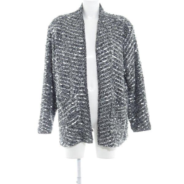 H&M Cardigan schwarz-grau Casual-Look