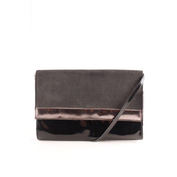 H&M Clutch schwarz-dunkelgrau Elegant