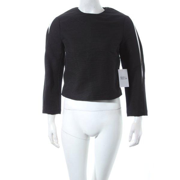 H&M Cropped Shirt schwarz-weiß Casual-Look