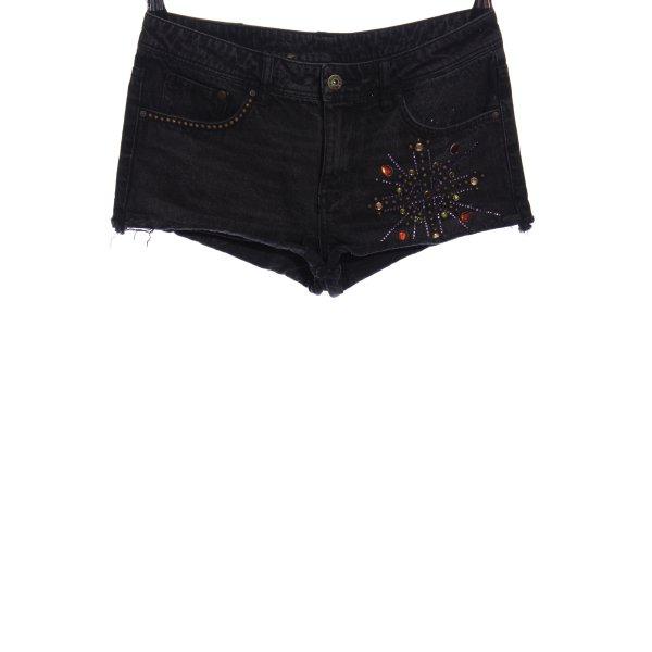 H&M DENIM Jeansshorts schwarz Casual-Look