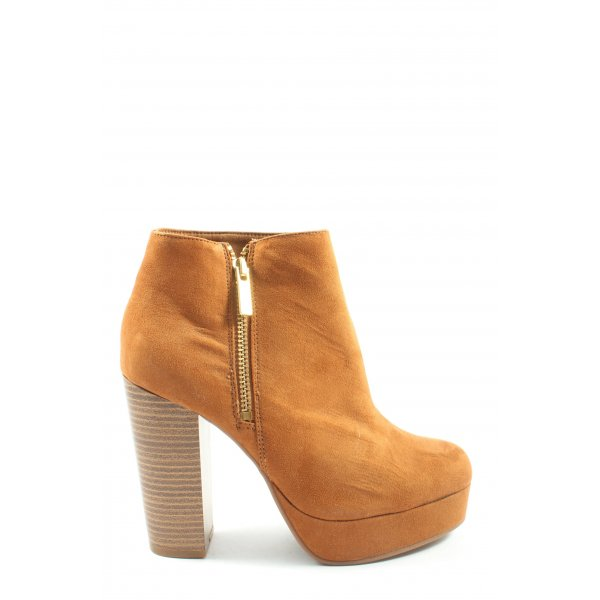 H&M Divided Booties hellorange Casual-Look