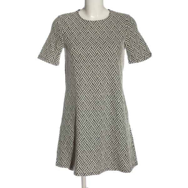 H&M Divided Kurzarmkleid weiß-schwarz Streifenmuster Casual-Look