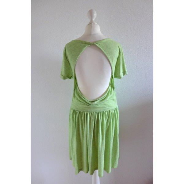 H&M Divided Sommer Kleid hellgrün Rückenausschnitt Gr. 42 L