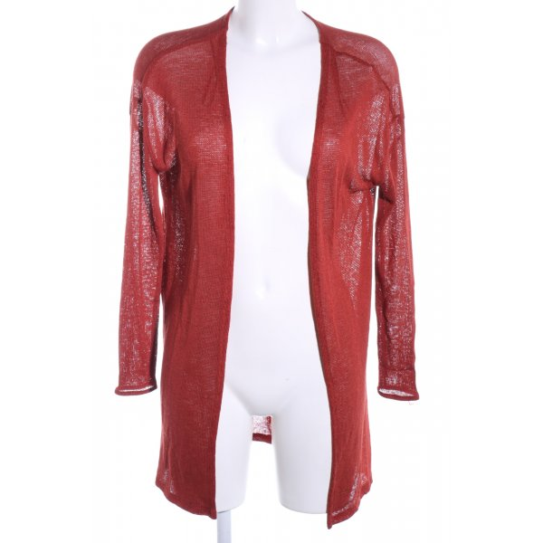 H&M Divided Strick Cardigan rot Casual-Look