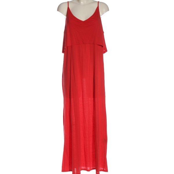 H&M Divided Trägerkleid rot Casual-Look