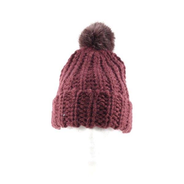 H&M Cappello in pelliccia marrone punto treccia stile casual