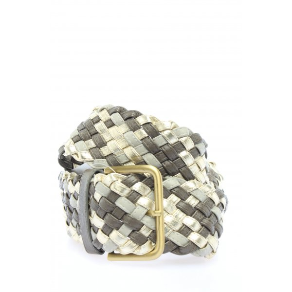 H&M Braided Belt light grey-gold-colored casual look