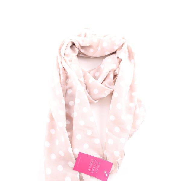 H&M Halsdoek roze-wit gestippeld patroon casual uitstraling