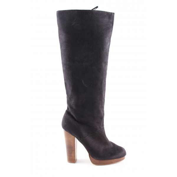 H&M High Heel Stiefel schwarz Business-Look