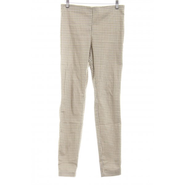 H&M High-Waist Hose Hahnentrittmuster Casual-Look