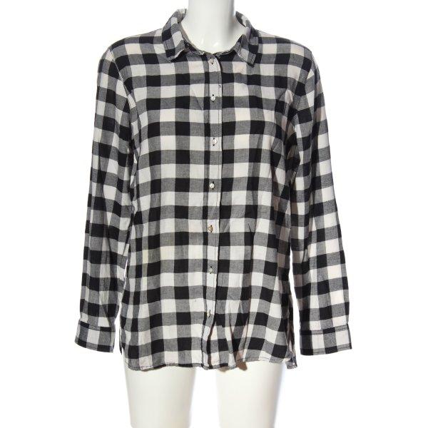 H&M Holzfällerhemd schwarz-weiß Karomuster Casual-Look