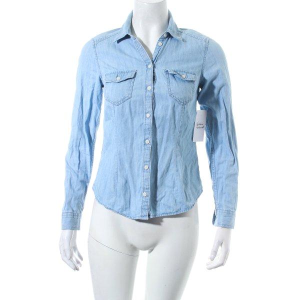 H&M Jeansbluse hellblau Casual-Look