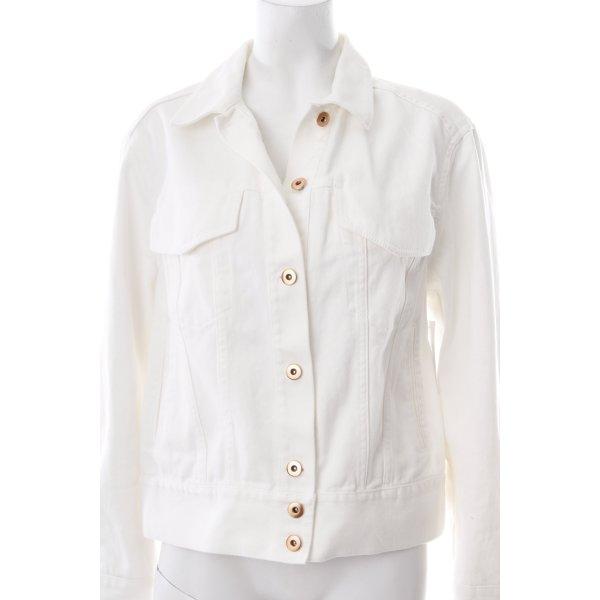 H&M Jeansjacke weiß