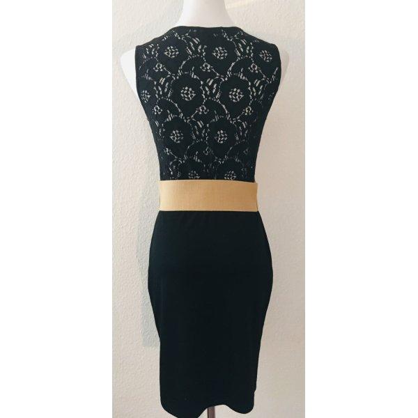 H&M Kleid schwarz mit Spitze Gr. S