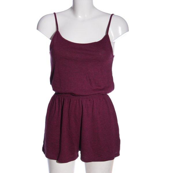 H&M Kurzer Jumpsuit lila meliert Casual-Look