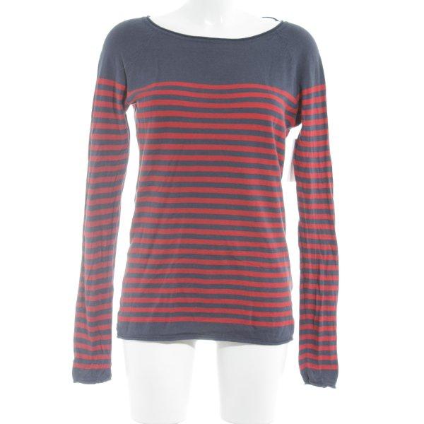 H&M L.O.G.G. Longsleeve rot-blau Colourblocking Casual-Look