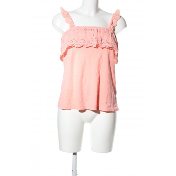 H&M L.O.G.G. Rüschen-Bluse pink Casual-Look
