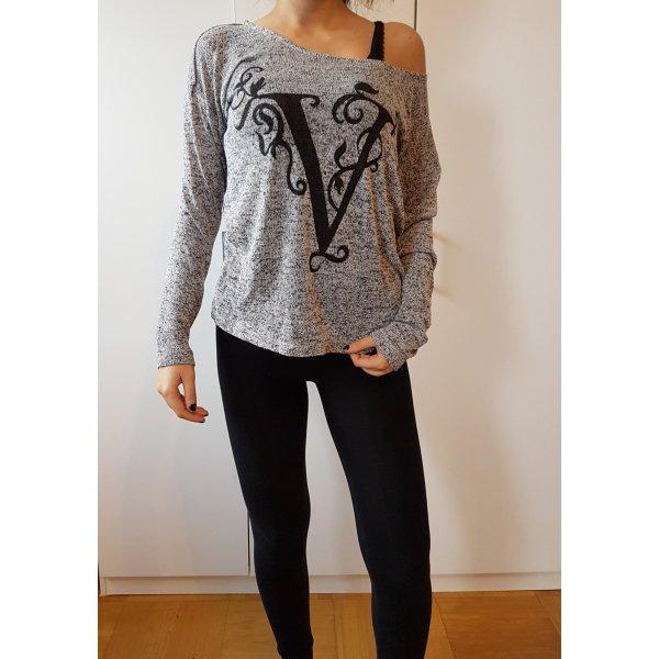 H&M lässiges Shirt langärmiges T-Shirt meliert Long Sleeveless Shirt