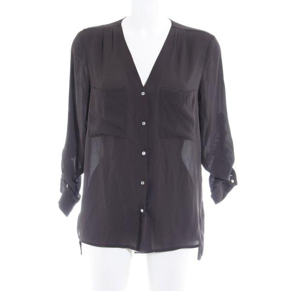 H&M Langarm-Bluse schwarz Elegant