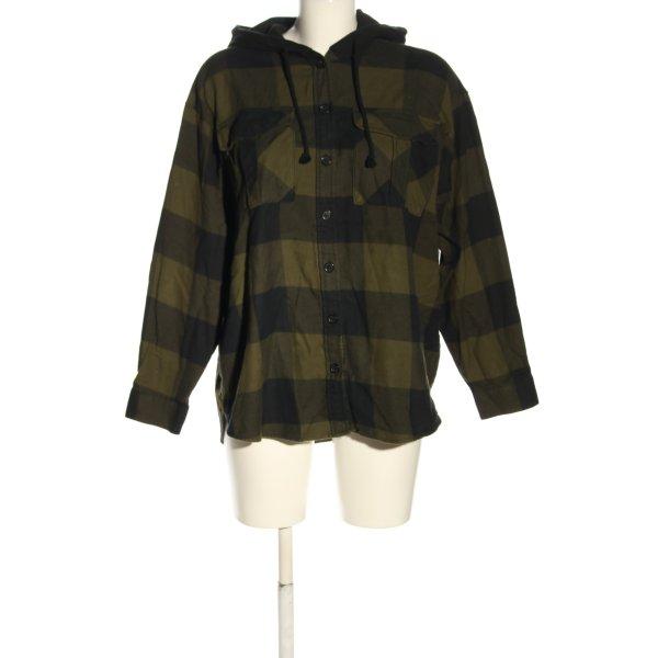 H&M Langarmhemd khaki Allover-Druck Casual-Look