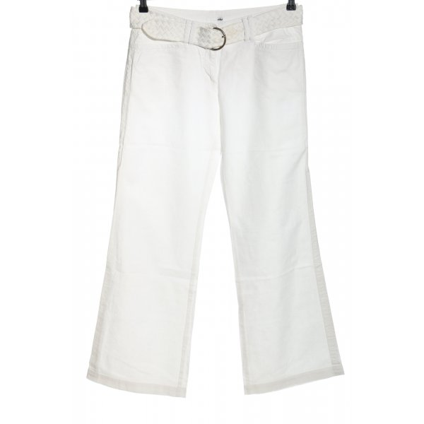 H&M Leinenhose weiß Casual-Look