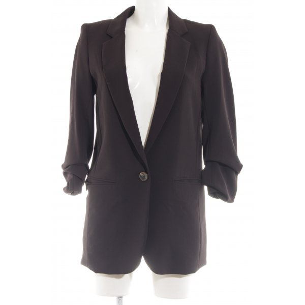 H&M Long-Blazer braun Business-Look