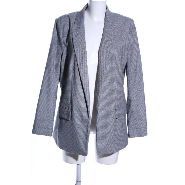 H&M Long-Blazer hellgrau Webmuster Business-Look